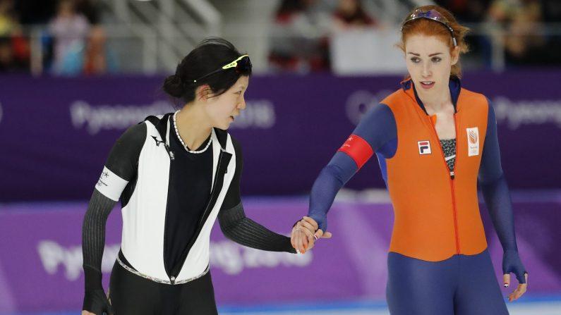 五輪=スピードスケート女子3000m、高木美は5位