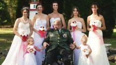 死を目前に控えた父親、娘たち7人が白いドレスで現れ、涙が溢れる