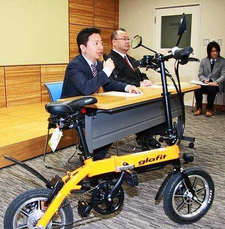県公用車として採用 ハイブリッドバイク