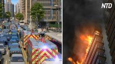未来の消防車、渋滞に巻き込まれたときの驚きの対処法とは?
