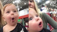 驚きの連続! 1歳児初のスーパーマーケット体験
