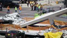 米で歩道橋崩落、8人搬送 南部マイアミ、車下敷き