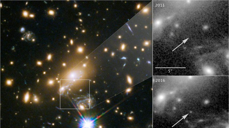 単独恒星で最遠の青色超巨星を観測、地球から93億光年