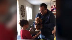 火事で愛犬を失った子どもたちに、新しい子犬をプレゼント 子どもたちの反応は?
