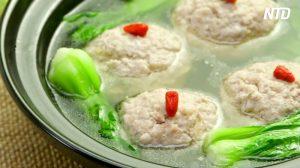 【料理】自宅で本格中華 肉汁たっぷり豚団子と白菜とチンゲン菜