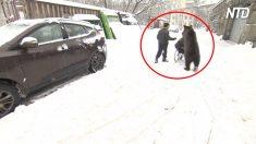 【絆】育ての親の調教師の車イスを押すクマ グレートモスクワサーカス