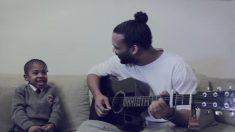 【ファミリー】娘の即興セレナーデに、ギターで合わせる素敵なパパ