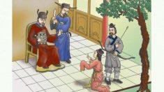 弓職人の妻、機転をきかせて王に嘆願する
