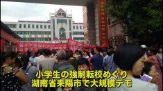 【動画ニュース】小学生の強制転校めぐり 保護者ら大規模デモ=中国湖南省