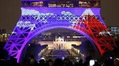 パリのエッフェル塔で特別ライトアップ、日本の芸術を表現