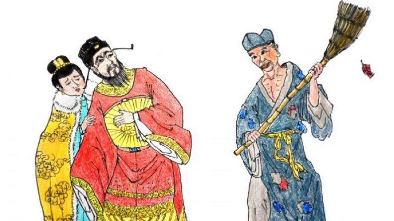 【中国故事】邪悪な宰相夫婦を寺から追い返した錯乱坊主