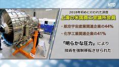 【動画ニュース】外国企業の技術を強制的に移転…中国当局の4つの手口を米メディアが分析