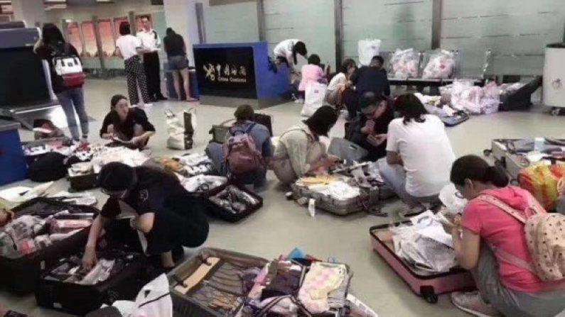 爆買いに逆風 中国主要空港、草木皆兵の税関検査を実施