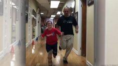 【感動】ハイテク義足で初めて「疾走った」9歳の少年