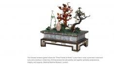 【150年前の超高級ギフト】超絶技巧による象牙製ミニチュア中国庭園