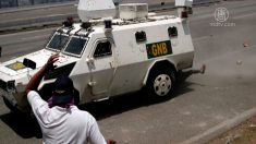 【動画ニュース】ベネズエラのデモ 装甲車に轢かれた市民「信念を捨てない」