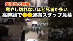 武漢の火葬場が高時給で〇〇運搬スタッフ急募 燃やし切れないほど死者が多い?