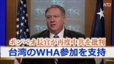 ポンペオ長官が再度中共を批判 台湾のWHA参加を支持