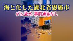 続く長江流域の洪水 ダムの放水で湖北省恩施市が海に